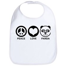 Peace Love Panda Bib