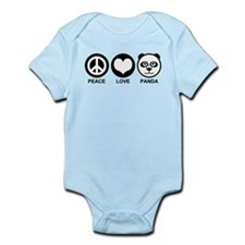 Peace Love Panda Infant Bodysuit