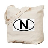 Norway - N - Oval Tote Bag