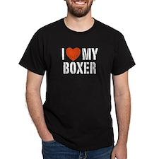 I Love My Boxer T-Shirt