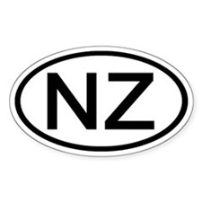 New Zealand - NZ - Oval Oval Decal