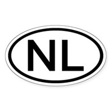 Netherlands - NL - Oval Oval Stickers