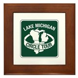 Lake Michigan Circle Tour, Wisconsin Framed Tile