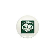 Lake Michigan Circle Tour, Wisconsin Mini Button (
