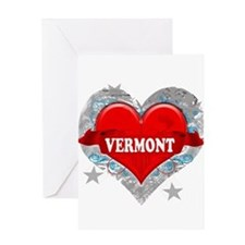 My Heart Vermont Vector Style Greeting Card