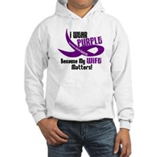 I Wear Purple For My Wife 33 PC Hoodie