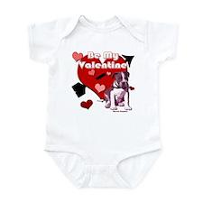 Valentines Day Pit Bull Pup Infant Bodysuit