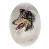 Blue Merle Collie Keepsake (Oval)