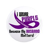 I Wear Purple For My Husband 33 PC 3.5&quot; Button
