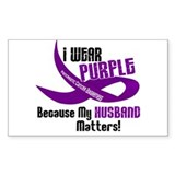 I Wear Purple For My Husband 33 PC Decal