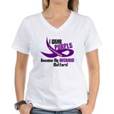 I Wear Purple For My Husband 33 PC Shirt