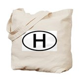 Hungary - H - Oval Tote Bag