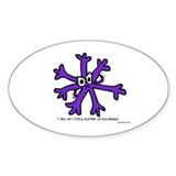 Itchy purple snowflake Oval Decal