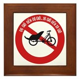 No Rickshaws Allowed, Vietnam Framed Tile