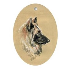 Belgian Tervuren Oval Ornament