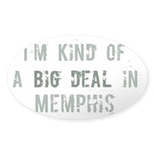 Big deal in Memphis Oval Sticker (10 pk)