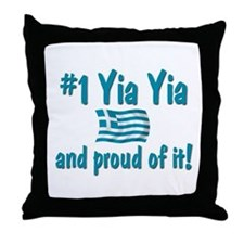 #1 Yia Yia Throw Pillow