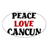 Peace Love Cancun Oval Decal