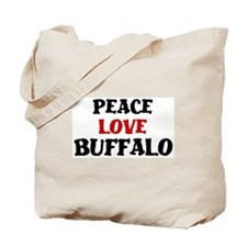 Peace Love Buffalo Tote Bag
