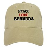 Peace Love Bermuda Baseball Cap