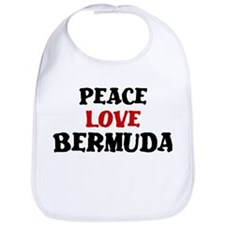 Peace Love Bermuda Bib