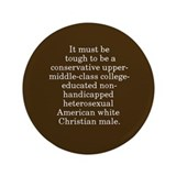 "Oppressed Majority 3.5"" Button"