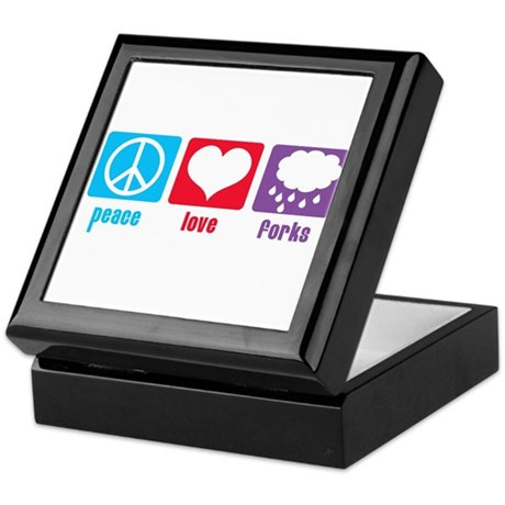 Peace Love Forks Keepsake Box
