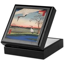 Japanese Cranes Keepsake Box