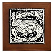 Chinese Luck Dragon Framed Tile