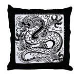 Korean Luck Dragon Throw Pillow