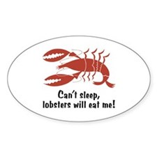 Funny Lobster Oval Decal