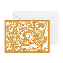 Wild Birds and Bamboo Greeting Cards (Pk of 20)