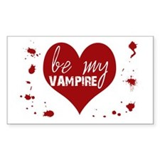 Be My Vampire Valentine Rectangle Decal