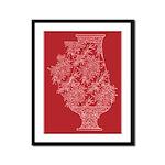 Asian Vase (Red) Framed Print