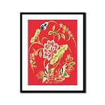 Medieval Chinese Floral Framed Print