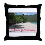 Cute Virgin islands Throw Pillow