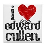 I Heart Edward Cullen Tile Coaster