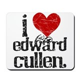 I Heart Edward Cullen Mousepad