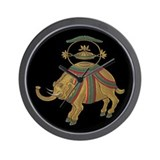 Decorative Asian Elephant 2 Wall Clock