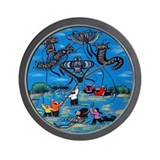 Flying Kites Wall Clock