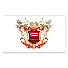 Puertorican flag emblem Rectangle Sticker 10 pk)
