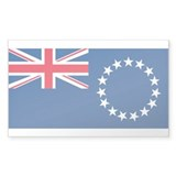 Cook Islands Rectangle Sticker 10 pk)