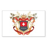 Swiss flag emblem Rectangle Decal