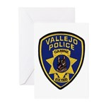 Vallejo PD Canine Greeting Cards (Pk of 10)