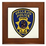 Vallejo PD Canine Framed Tile