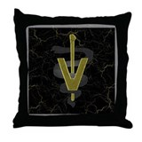 Veterinary Caduceus Throw Pillow