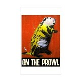 ON THE PROWL Rectangle Sticker 50 pk)