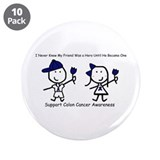 "Blue Ribbon - Friend 3.5"" Button (10 pack)"