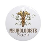 Neurologists Rock Caduceus Ornament (Round)