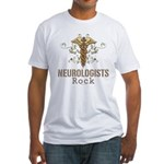 Neurologists Rock Caduceus Fitted T-Shirt